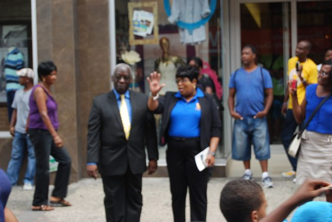 Minister of Education Ronald Jones and Chief Education Officer Karen Best took part in today's parade.
