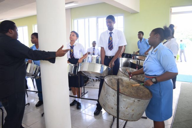 Students of the Daryll Jordan Secondary School kept the crowd entertained.