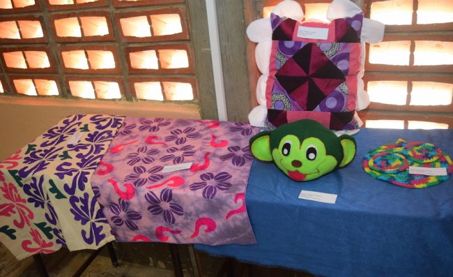 Some of the craft on display.