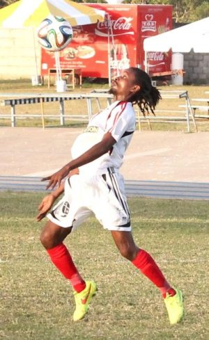 Dwayne Stanford scored twice for City of Bridgetown. (FP)
