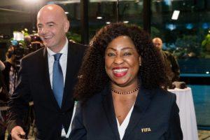 FIFA president Gianni Infantino with the organisation's secretary general Fatma Samoura.