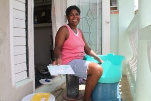 Ernita Kellman could see the lighter side of receiving a waterbill despite having no running water for months.