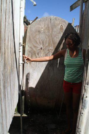 Tamesha Howard is thankful the water is back.