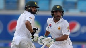 Azhar Ali (left) and Sami Aslam added 215 runs in an opening stand that deflated the West Indies.