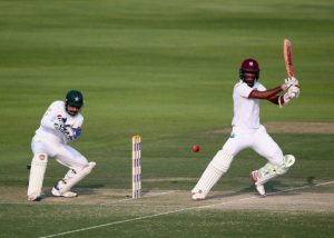 Kraigg Brathwaite made a half-century but did not survive to the close of play.