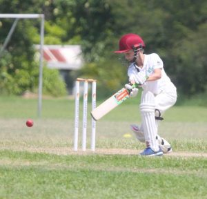 Tosh Jones of St Winifred's top scored against Bay Primary with 21.