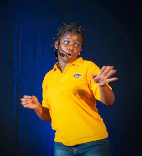 "Iyanla Jordan doing ""I In De Community."""