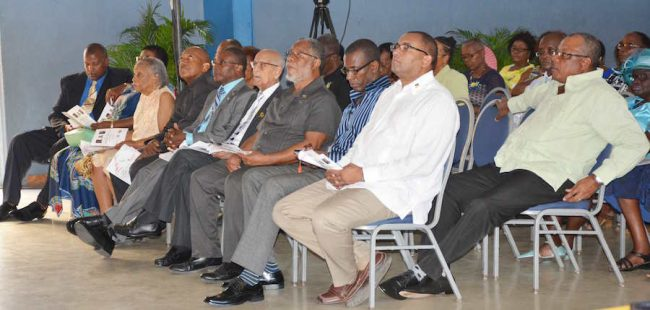 Members of the DLP hierarchy at yesterday's church service.