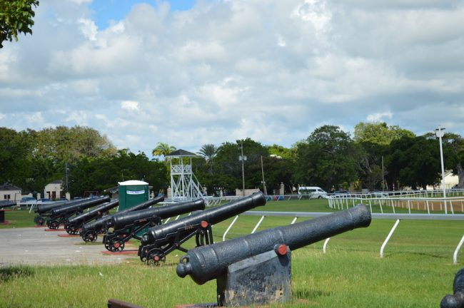 Cannon collection at the Garrison Savannah.