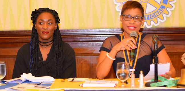 Rotary Club of Barbados President Lisa Cummins today announced that Olympian Akela Jones will be the face of the Each One Canproject.