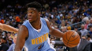 Emmanuel Mudiay made most of the plays for Nuggets last night.
