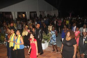 Some of the crowd who danced the night away.