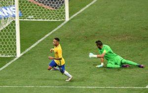 Neymar scores for Brazil.