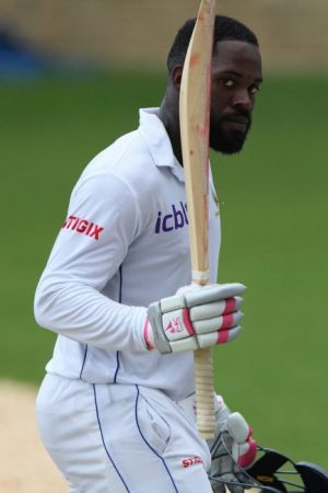 The rain-affected match's main talking point was the continued brilliant form of opener Anthony Alleyne.