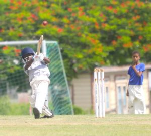Reviere Cottle of St Giles Primary opening the batting.  (Pictures by Morissa Lindsay)