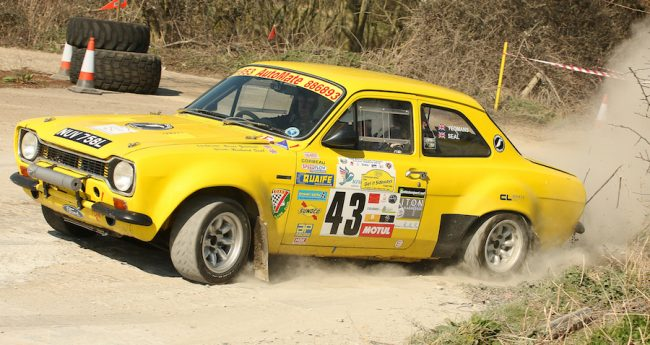 British crew Richard Seal and Bruce Yeomans on their way to third in class on the Get it Sideways Stage in April 2016.