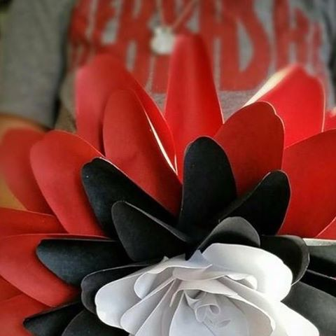 Go Huskers gameday footballseason paperflowers etsyshop paperflorist wallbackdrop weddingbackdrop giantpaperflowershellip