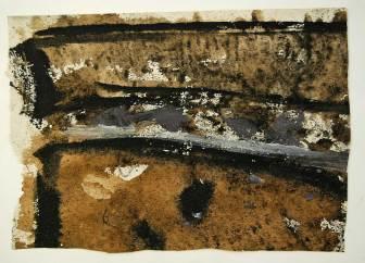 Acker 5, 37x27cm, Tusche, Kohle auf Raufaser