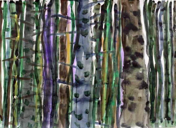 Wald 2, 2015, 50x70cm, Tusche auf Papier