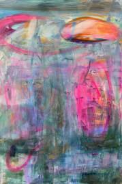 Wilde Blüten 12, 2013, 60x40cm, Acryl auf Leinwand