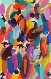 Wilde Blüten 6, 2013, 60x40cm, Acryl auf Leinwand
