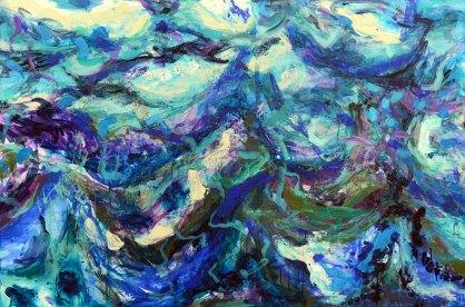 Wildes Meer, 2018, 120x180cm, Acryl auf Leinwand