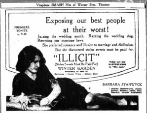 Illicit (1931) Publicity