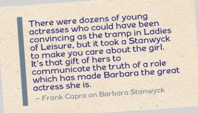 Quotes About Barbara Stanwyck
