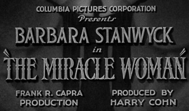 The Miracle Woman (1931) Opening Title