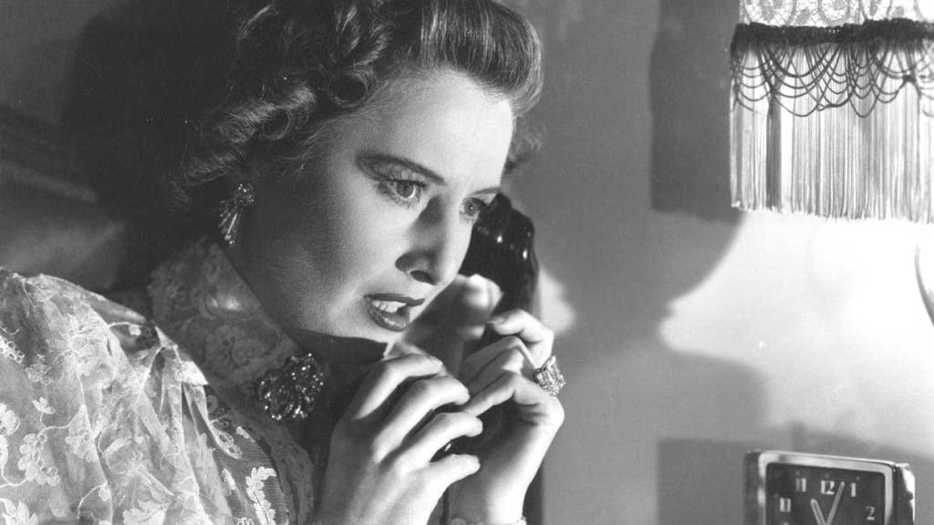 Barbara Stanwyck frantically holds the telephone in this suspense thriller that ranks 7 in Barbara Stanwyck top movies