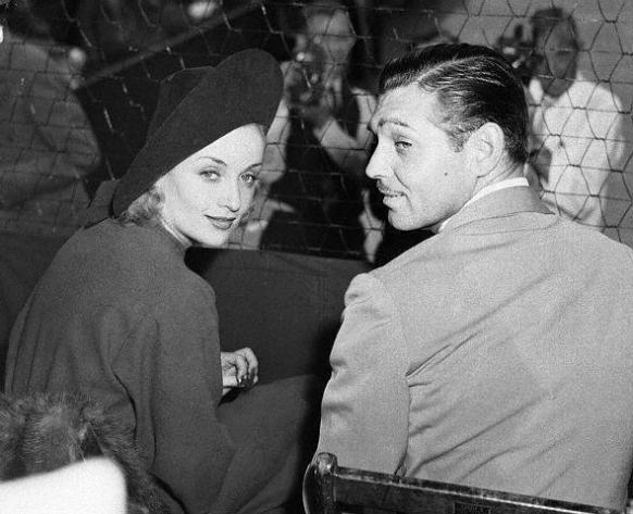 Carole and Gable at a tennis match