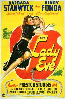Barbara Stanwyck Movies: The Lady Eve Poster