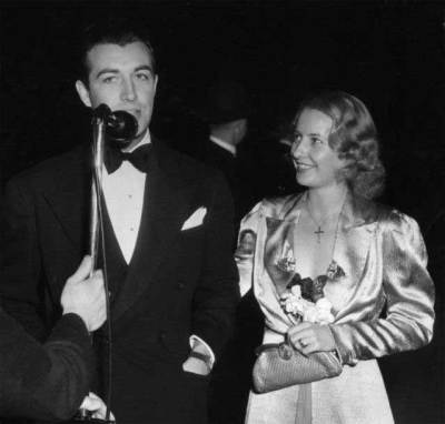 Barbara Stanwyck Biography: Movie Premiere in 1938 with then boyfriend Robert Taylor