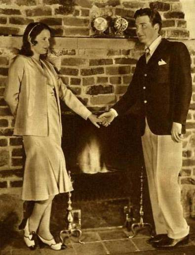 Barbara Stanwyck Biography: with Frank Fay ath their Malibu Home during happier times