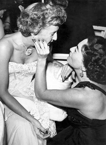 Barbara Stanwyck Bio: with old pal Joan Crawford