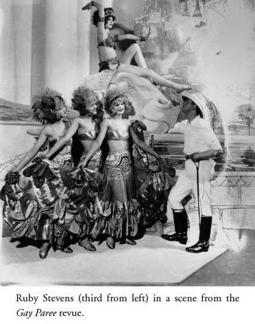 Ruby Stevens in Musial Revue Gay Paree, 1924