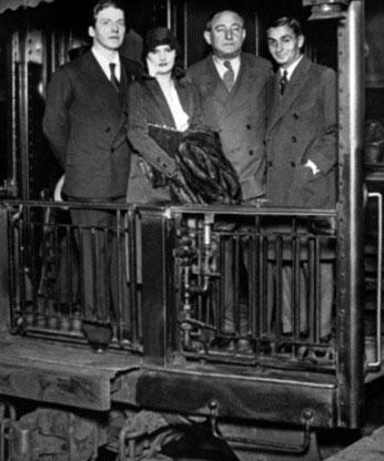 Frank, Barbara, Joseph Schenck and Irving Berlin