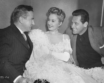 Holden Visits Stanwyck on the Set of All I Desire (1953)