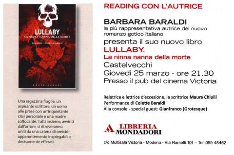 Locandina Lullaby a Modena