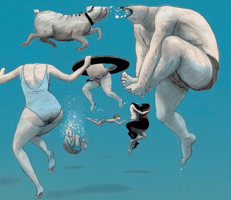 """ea602a4cdb La portada de este álbum, en la que predomina el azul del mar, nos deja  bien claro donde pastan estas """"vacas"""" de las que habla. Porque uno de los  personajes ..."""
