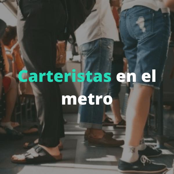 carteristas en el metro