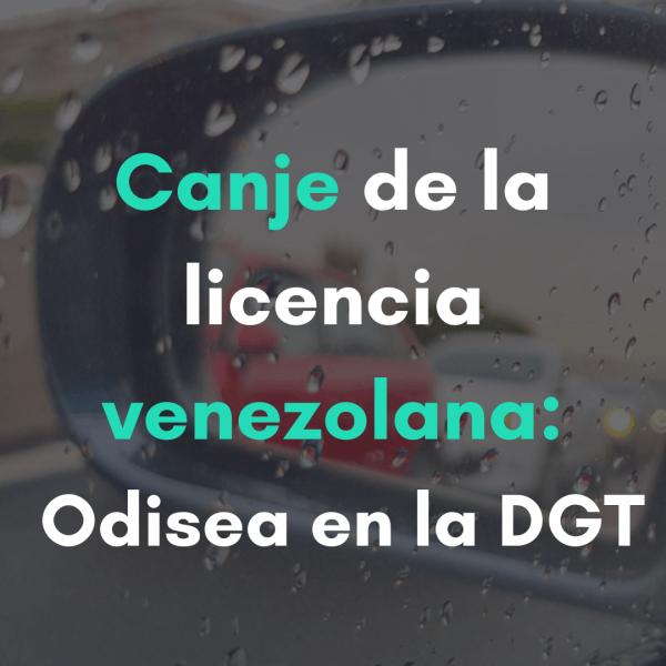 canje de la licencia venezolana
