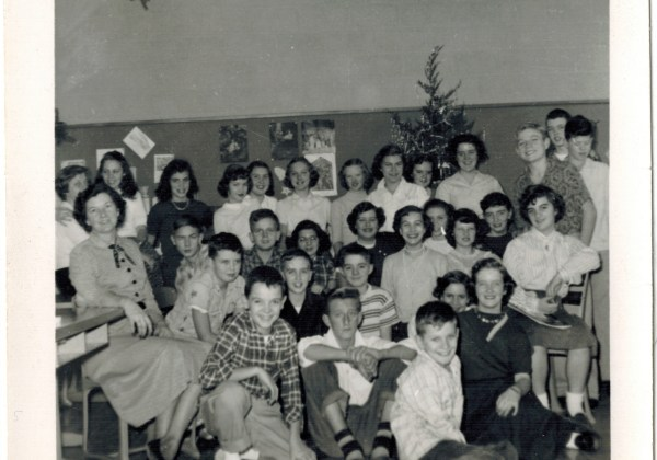 Durrett Junior High School, Class Photo, December 1953