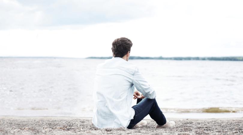 rosh hashanah for christians man sitting on beach looking at ocean