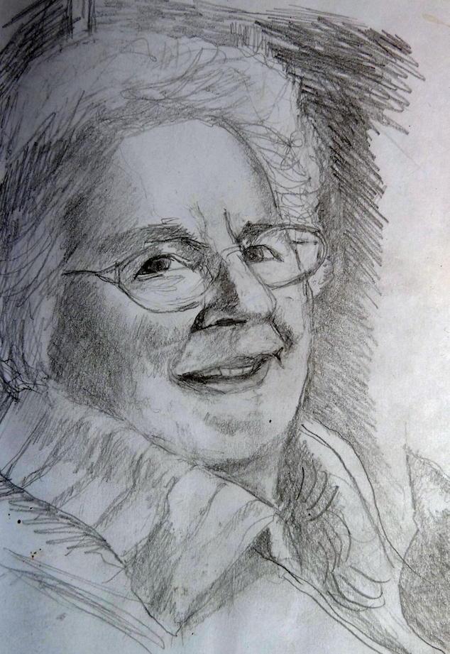 Mum in pencil