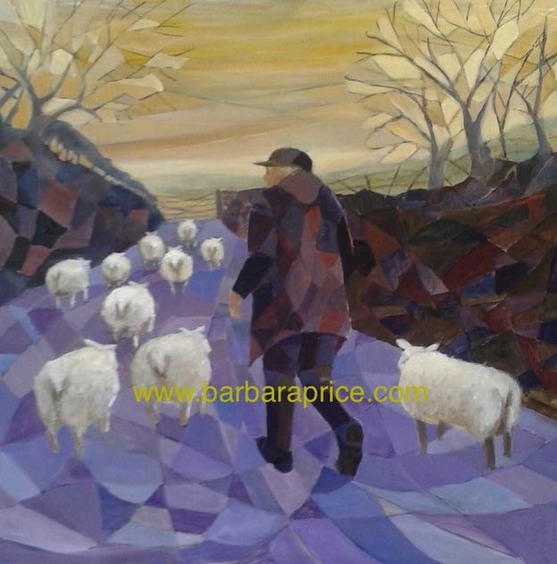 455 farmer and sheep, autumn