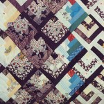 detail of pheasant quilt