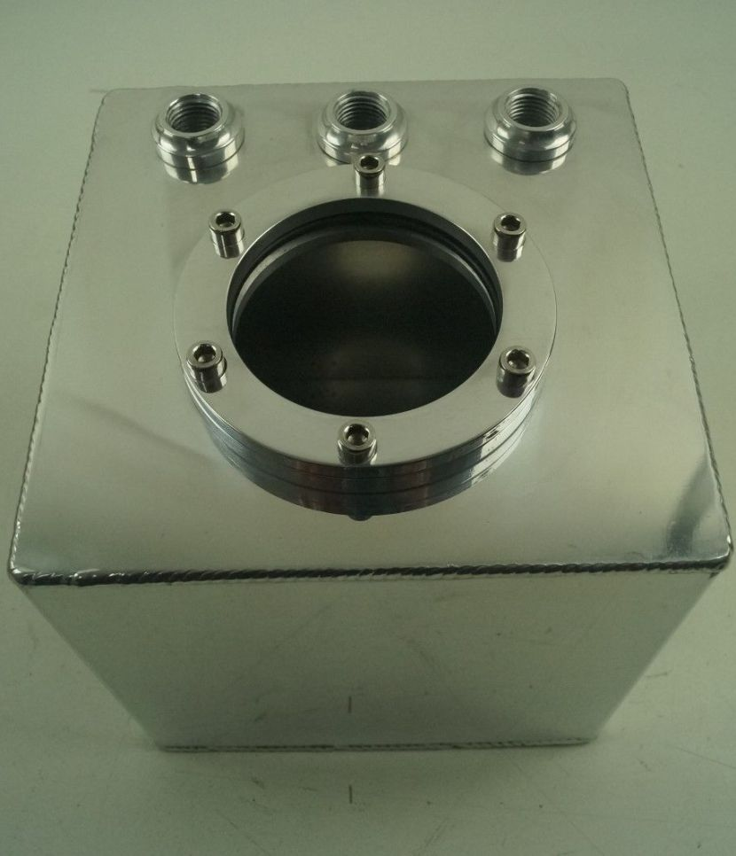 1.5 Litre Swirl Pot/Tank to fit Bosch 044 Type Fuel Pump, Polished Aluminium