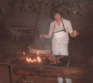 George, barbecueing in South Africa