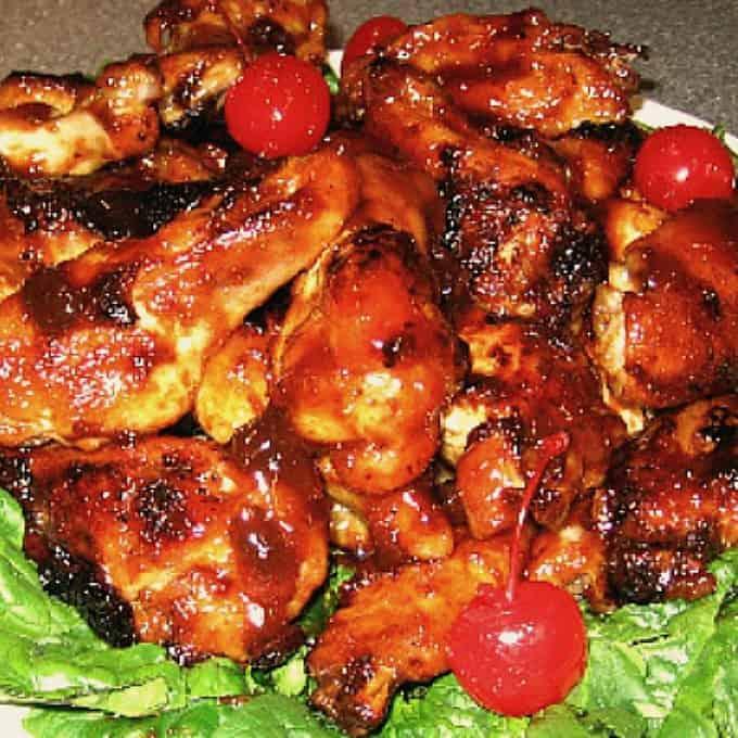 Cherry Chicken Wings